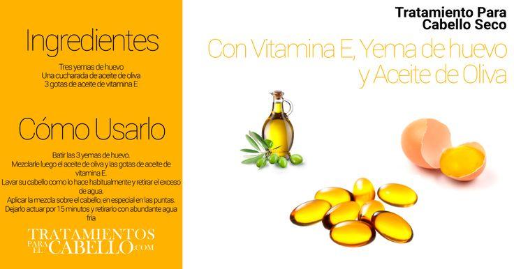 Mascarilla para el Cabello con Vitamina E, Yema de Huevo y Aceite de Oliva | Los Mejores 20 Tratamientos Caseros Para El Cabello Seco