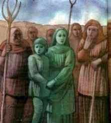 Niños Verdes de Woolpit es una leyenda que cuenta como los aldeanos de Woolpit encontraron a una niña y a su hermano, ambos tenían la piel verde.  Los dos niños se negaron a consumir alimentos durante varios días hasta. Los niños acabaron adaptándose a una alimentación normal y al tiempo perdieron su color verde. El chico, que parecía ser el más joven de los dos, murió poco después. la niña se dice que creció con normalidad.
