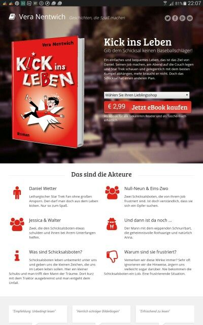Habe ich euch schon meine neuen Buchseiten gezeigt? Bin gerade megastolz darauf. :-)  http://www.rausgekickt.de