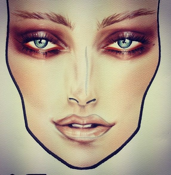 #makeup #facechart #inspiration #artist #beauty #mac #cosmetics #mua #beautiful