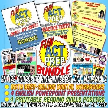 "An entire course of high-interest ""Fun ACT Prep"" materials just in time for test prep season. Check it out!"