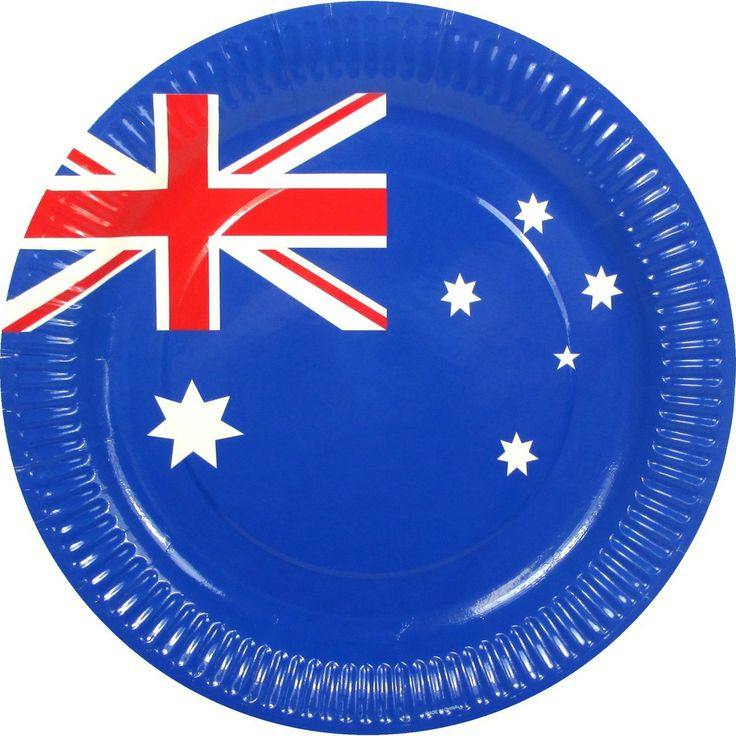 Party Time Celebrations  - Australian Flag Paper Party Plates, $4.95 (http://www.partytimecelebrations.com.au/australian-flag-paper-party-plates/)