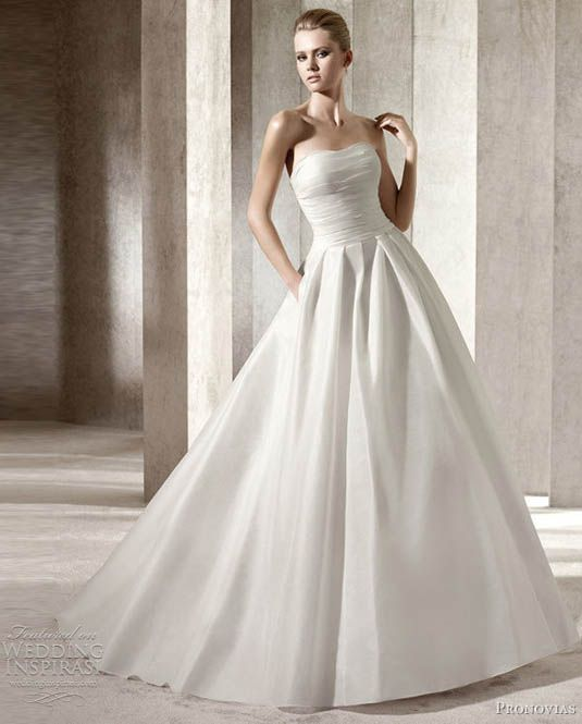 sleeveless wedding dresses gesinee s bridal designer gowns pronovias strapless 7546