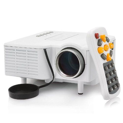 """Generic Mini LED Projector """"Portimax Ii"""" - 320x240, 30 Lumens, 300:1, VGA Port by China OEM. $95.00. Specification      Aspect Ratio: 4:3     Lens Adjustment: Manual     Operation Temperature: 0-35 degrees Celcius     Humidity: 20-80%, non-condensing     Power Consumption: 20W     Power Supply: 12V     Languages: English, Chinese, Deutsch ,French, Russian, Spanish, Portuguese, Arabic  Memory      SD card up to 32GB(not including)   Media Formats:      Video: AVI, MOV, VOB, DAT, ..."""