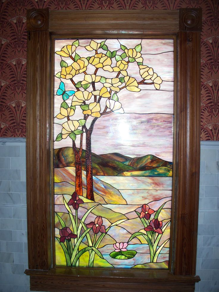 Custom Stained Glass Window For Rose Villa Restaurant In Ormond Beach Fl Created By Designer