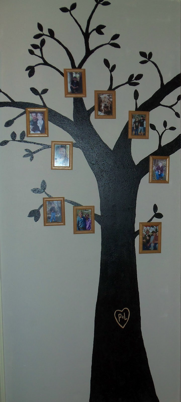 How to paint a tree on your wall - Paint A Tree On Your Wall Then Hang Frames For Your Own Family Tree