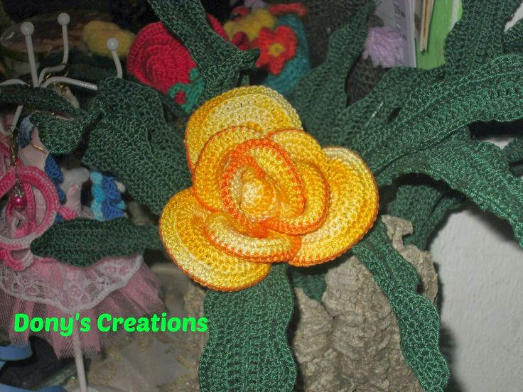 Dony's Creations by Donatella Saralli : Rosa gialla _ pattern free