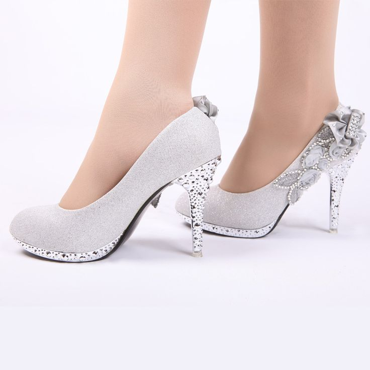 1000+ Ideas About Silver Wedding Shoes On Pinterest