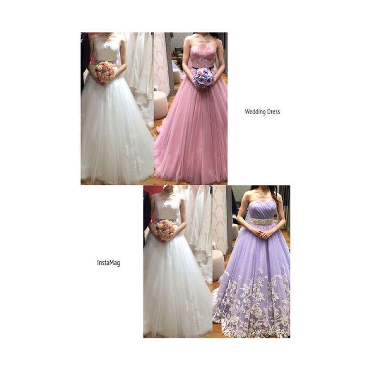 . 前回も書きましたが未だにカラードレス迷子です 今月の目標でもあるカラードレス決定 白とそれぞれ並べるとピンクが白と似ている感じに見えて紫の方が良いのかなと思ってきました しかしこのピンクがどうしても着たくて 考えたところ二次会で着れないかなと まだ場所は決定してないですが式場とは別に100人前後収容できる会場を探すつもりでエンパイアとかちゃんとしたドレスを着ようと思ってました でも二次会でこんなボリュームがあるドレスってどうなんだろう ; ;  100人だったらそれなりに大きいところだから大丈夫かなとか思ったのですが介添えさんも付かないのでお友達に頼むしかない そもそもこんなボリュームあって邪魔 お値段は確か二次会価格で貸し出してくれるはずなのであんまり心配してないのですが . . そもそも白とピンク似てるなぁって思いますか 皆さまの二次会事情教えてください(;_;)こんなボリュームドレス着て大丈夫かなぁ このドレスを着ないと後悔しそう最悪ウェディングドレスを変えるか笑 . 先程投稿したpic間違えて消しちゃいましたいいねしてくれた方ごめんなさい…