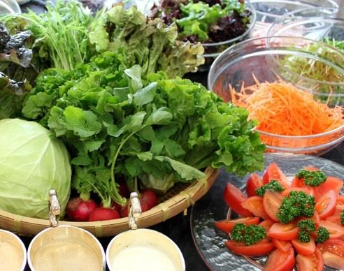 取れたて新鮮野菜。