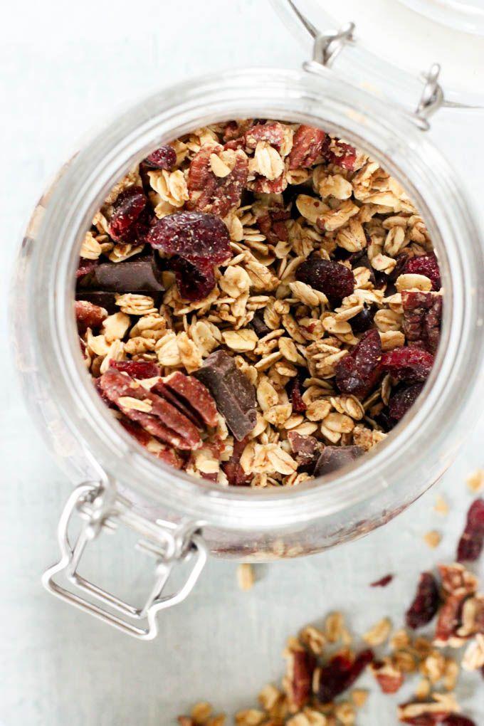 dark chocolate cherry granola recette muesli. Black Bedroom Furniture Sets. Home Design Ideas