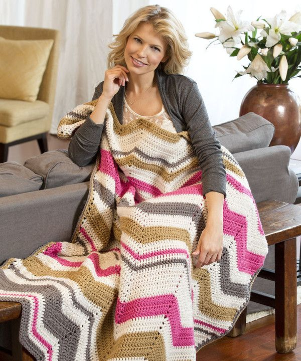 Let's spice up your classic ripple with a little help from the Modern Crochet Ripple Pattern.