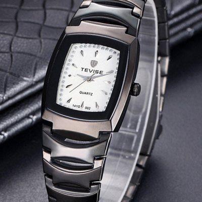 Tevise Diamond Men Quartz Watch Stainless Steel Body Rectangle Dial-9.96 Online Shopping  GearBest.com