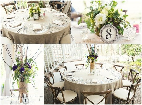 17 best images about cj 39 s off the square weddings on for Garden wedding table settings