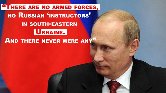"""'Russian troops in Ukraine? Got any proof?' Putin's best quotes from French media talk — RT News """"Speaking of US policy, it's clear that the United States is pursuing the most aggressive and toughest policy to defend its own interests and they do it persistently."""" """"There are basically no Russian troops abroad while US troops are everywhere. There are US military bases everywhere around the world and they are always involved in the fates of other countries...."""""""