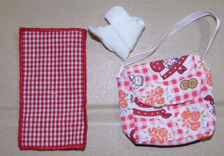 ~ Accessories ~Zapf Creation Baby Born Mini World Diaper Bag Diaper Blanket Red