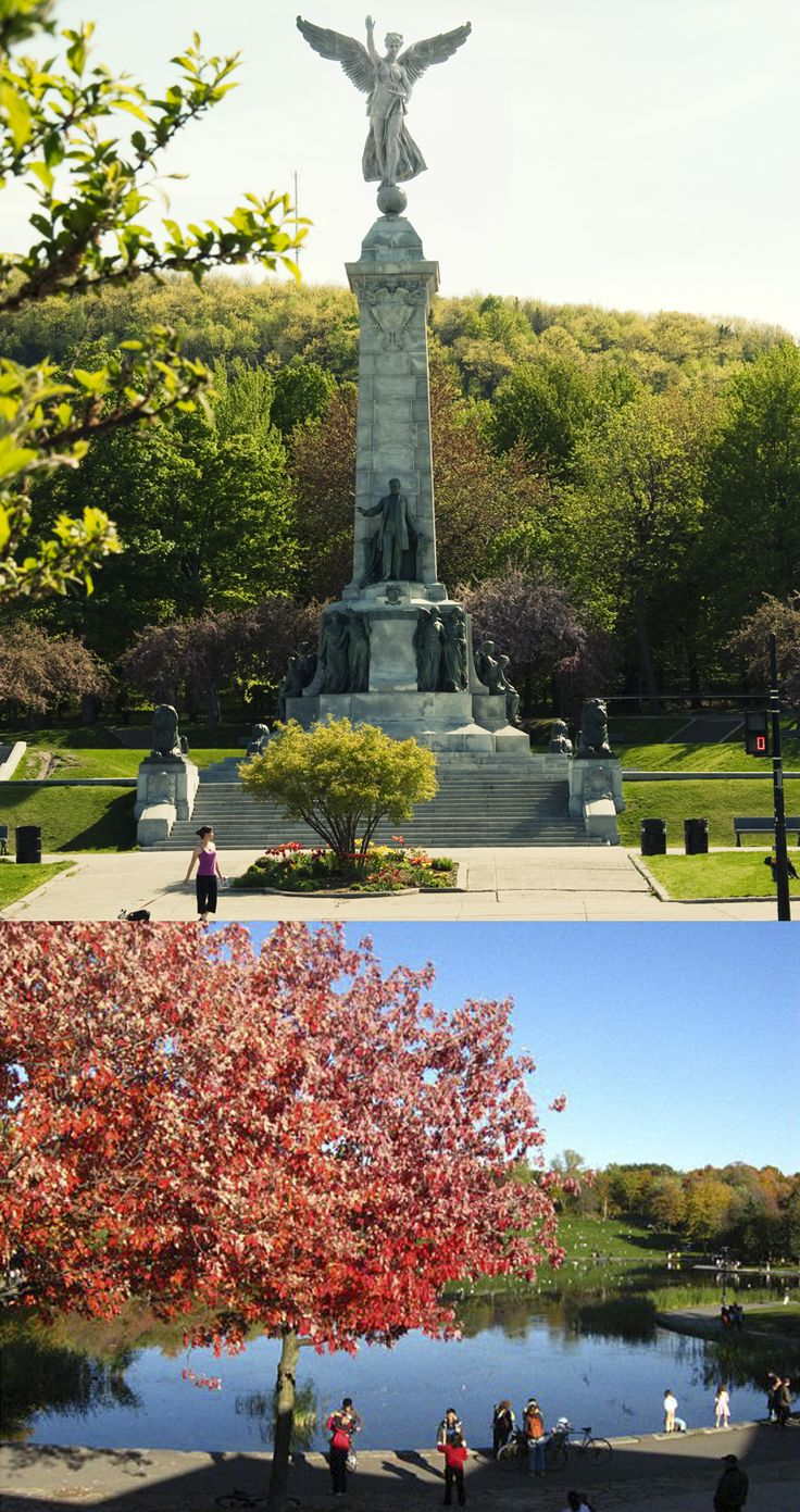 Parc du Mont Royal | Mount Royal is a hill in the city of Montreal, immediately west of downtown Montreal | Crédit (photo du haut): © Tourisme Montréal #Montreal #Park #MontRoyal