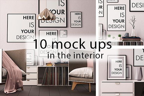 10 interior mock ups by FilL239 on @creativemarket