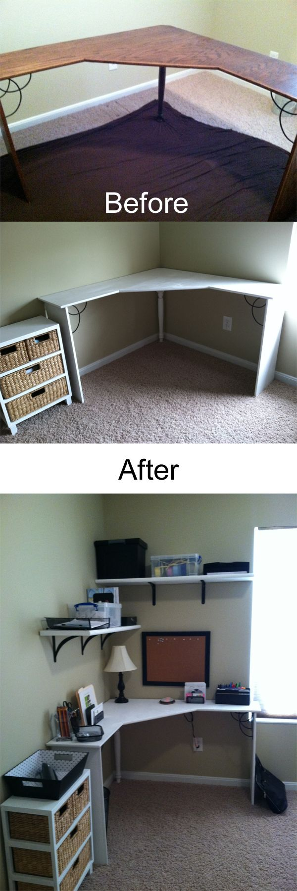 This looks a LOT like our office room... handy dandy little ideas here...