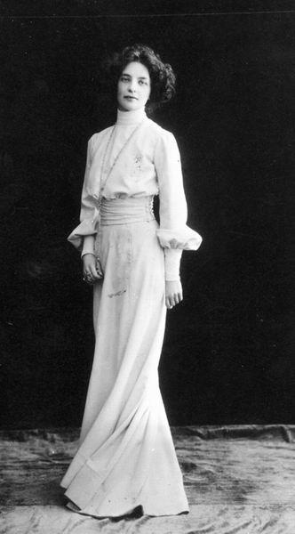 Zinaida Gippius (1869-1945) - Russian Poet & Playright. Circa 1910.
