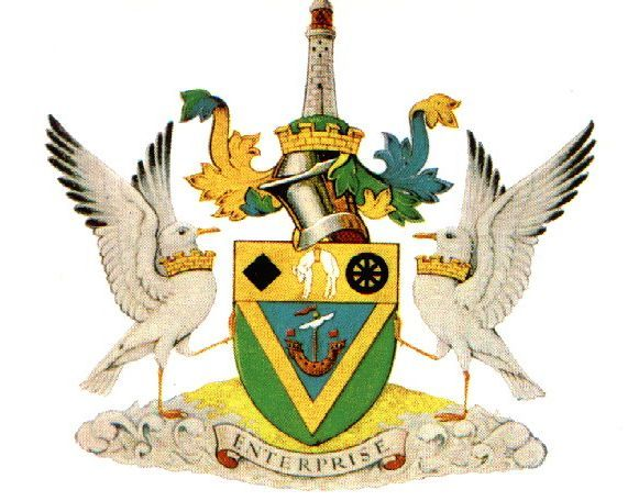 Newcastle coat of arms.