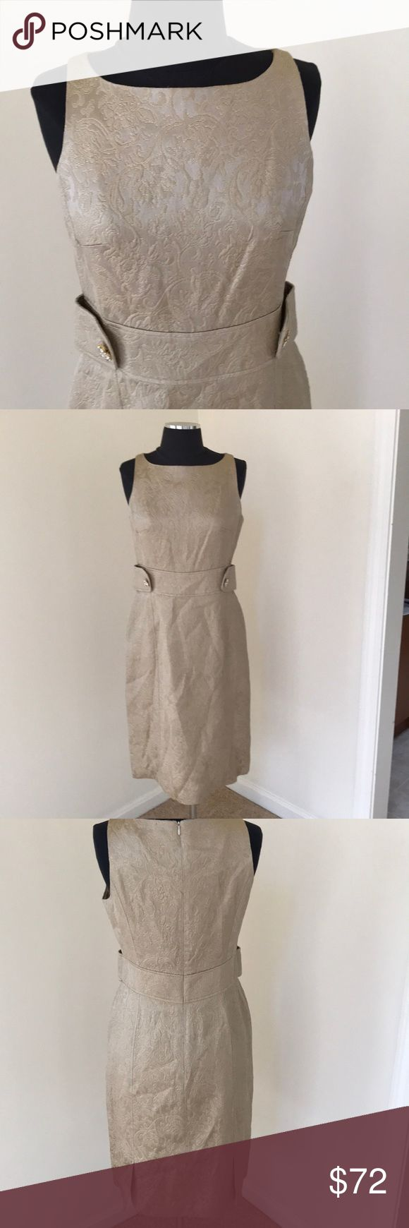 NWT! Sara Campbell Gold brocade Dress , Size 8 NWT! Sara Campbell size 8 gold brocade dress with inset waist and Back zipper closure . Beautiful for any formal occasion . Sara Campbell Dresses