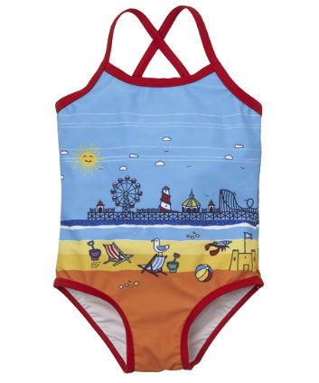 Little Bird By Jools Seaside Swimming Costume
