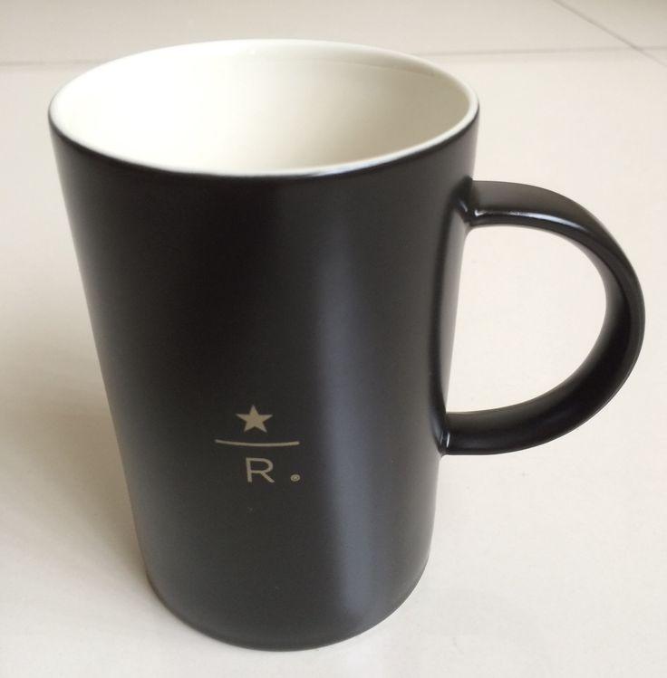 STARBUCKS Reserve Roastery & Tasting Room Charcoal Black COFFEE MUG R Logo