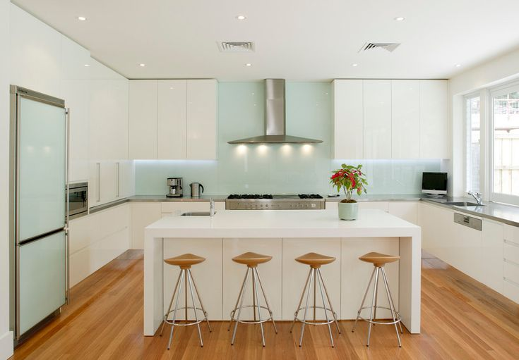 Remarkable Integrated Fridge Decorating ideas for lovely Kitchen Contemporary design ideas with Bench tops Stainless Steel Quartz gloss polyurethane modern kitchen Splash backs Integrated
