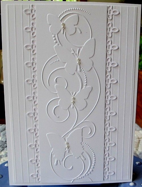 """Butterflies 12"""" Universal Embossing Folder by Darice for All Machines"""