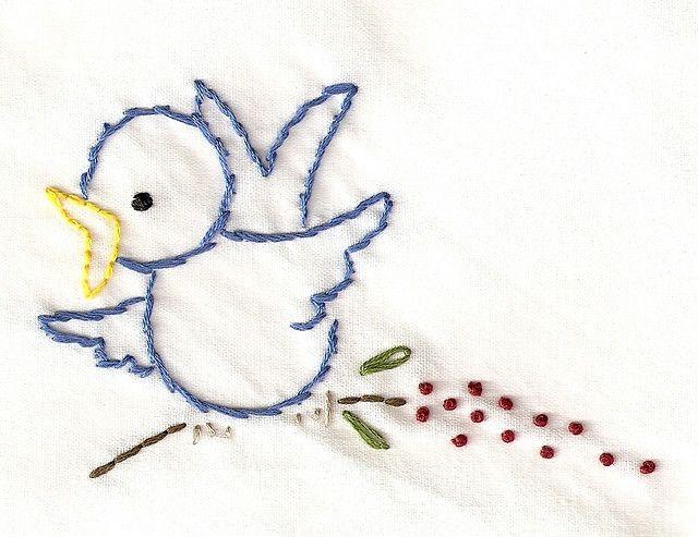 napkin - bird on branch by bookwormbethie, via Flickr