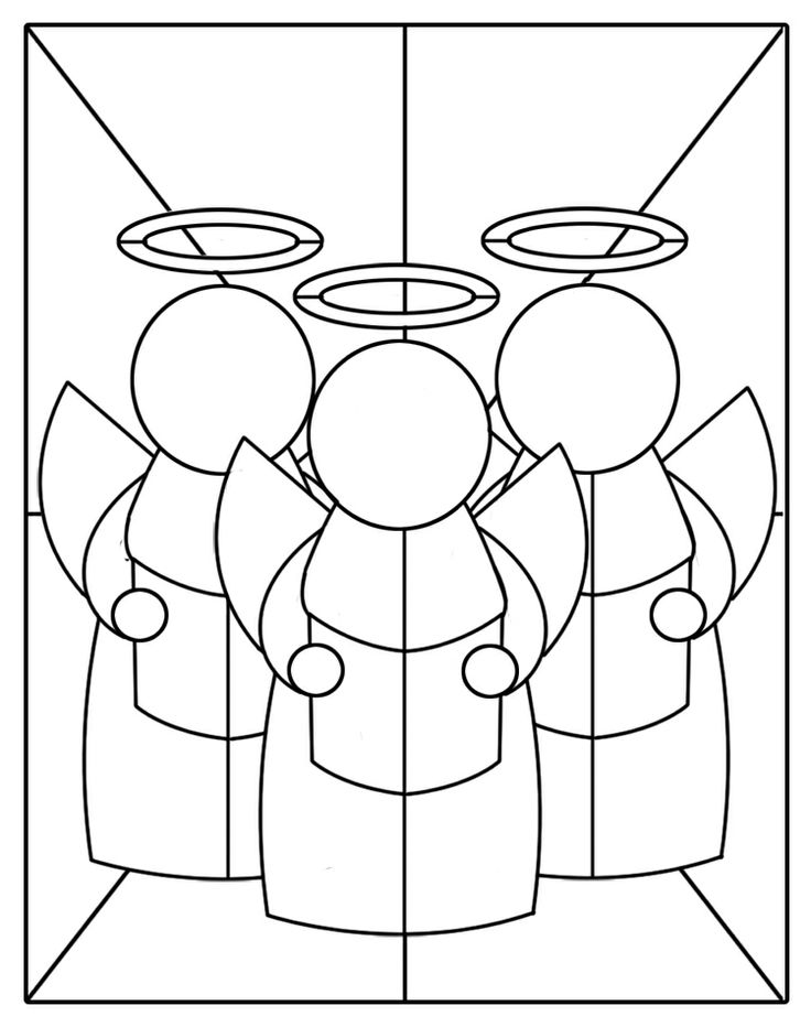 53 best angel coloring pages images on pinterest for Christmas stained glass window templates