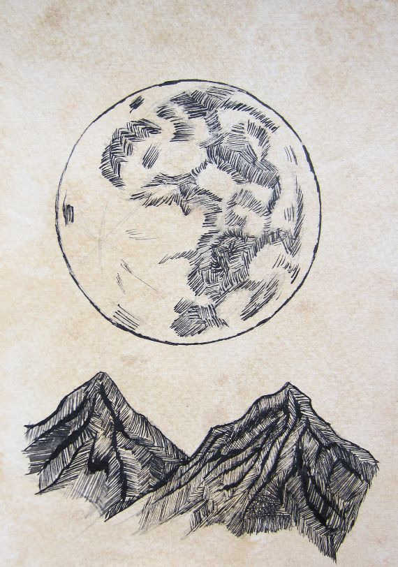 Moon and mountains, Bree Laliberte//