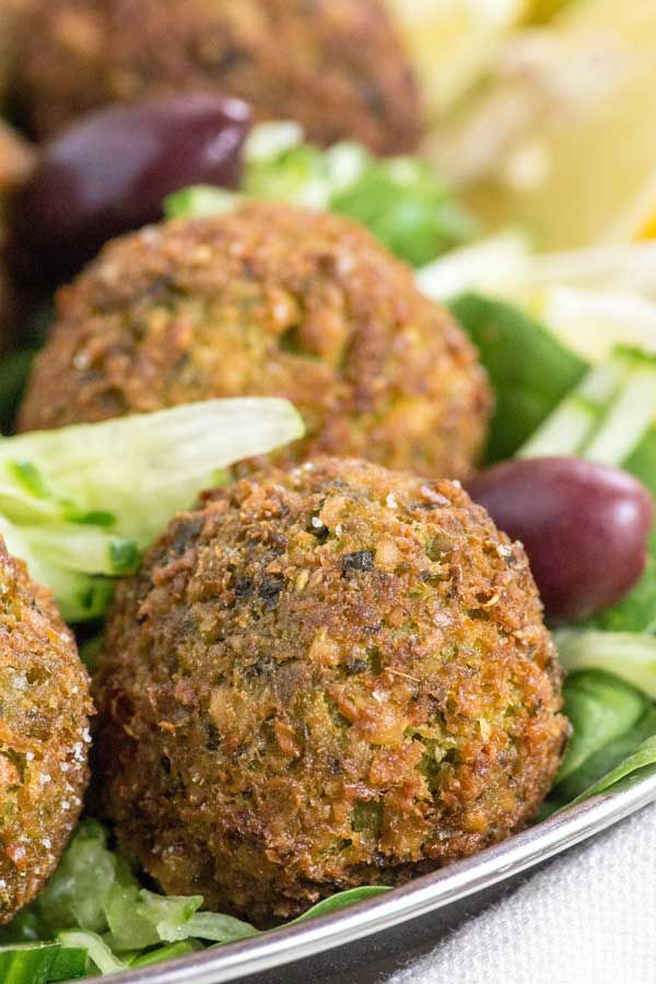 Falafel: Egypt & Middle East fried snacks made from ground chickpeas or broad beans wih herbs and spices.