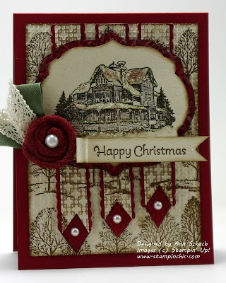 The Stampin' Schach: The Paper Players Christmas Lodge and Muffy Talk, Too!: Christmas Cards Lodges, Vintage Card, Cards Holiday, Card Ideas, Su Christmas, Card Making, Cards Crafts, Xmas Cards