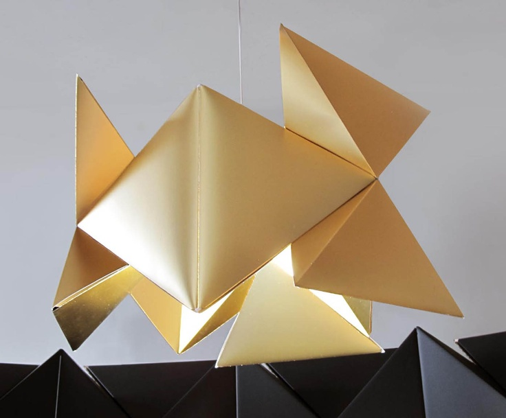 Mixing a modern aesthetic with the ancient principles of origami, this stunning hanging lamp from the talented Sakura Adachi is a marvel of contemporary Japanese design. Featuring an on-trend metallic finish, it will catch the light in all the right places for a luxurious look that will make an inspiring statement in any room.