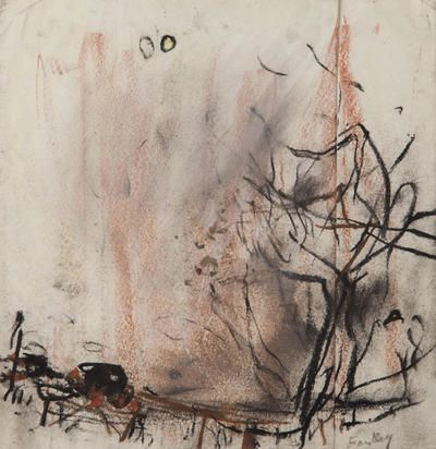 Joan Eardley - Tree and Two Suns, Catterline
