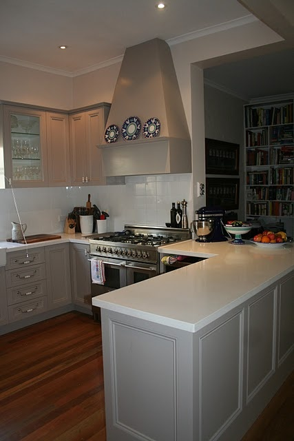 actually handpainted the kitchen myself, Colour is Dune by Dulux It