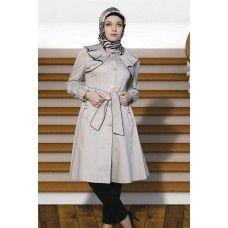 Irani Manto/Coat in Silver-Rust color