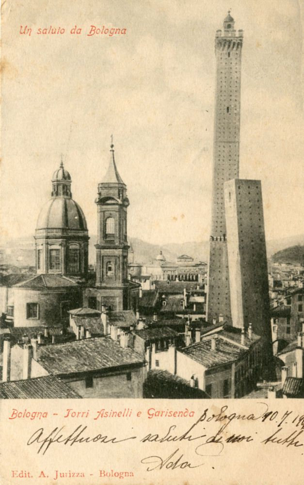 BOLOGNA- TORRI ASINELLI E GARISENDA 1906