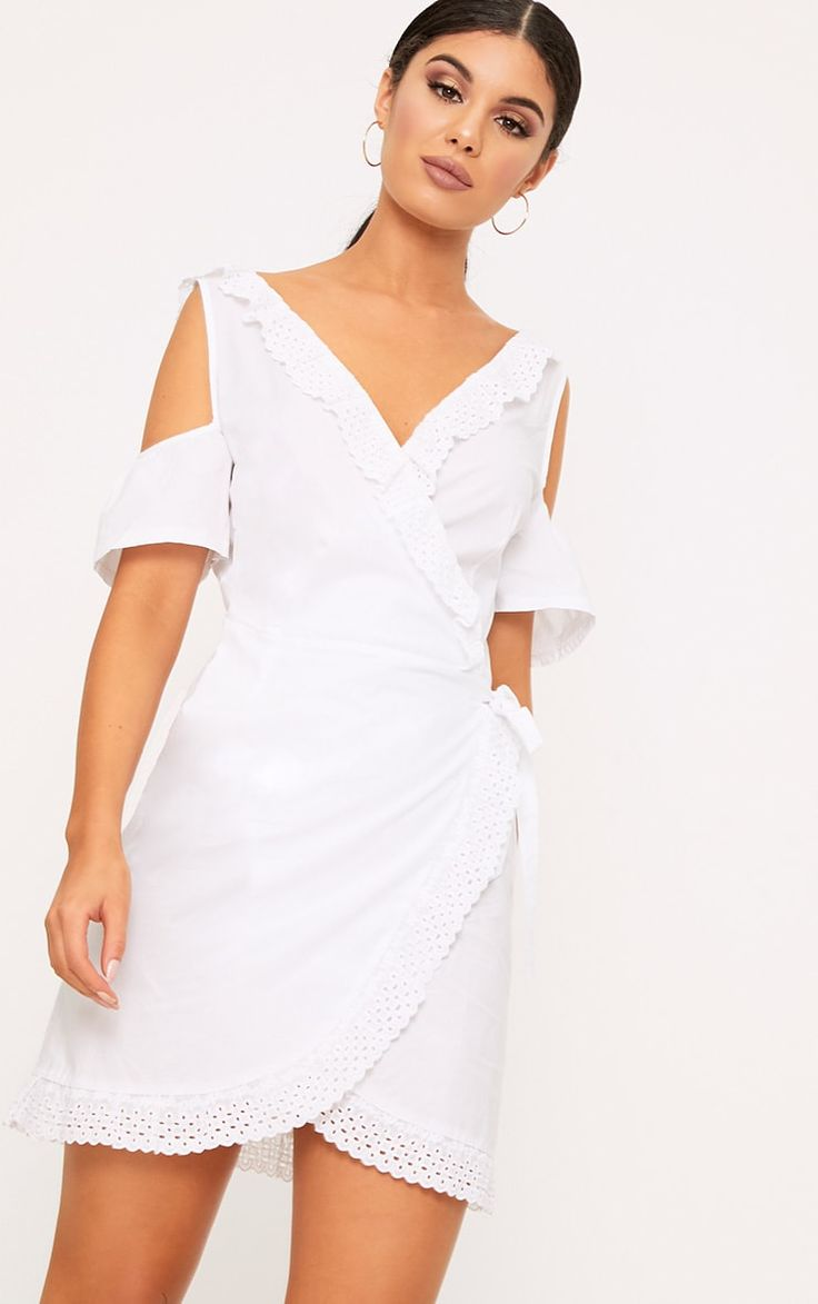 9 Best Dresses Images On Pinterest Curve Short Kemeja Lavender Multicolor Shop At Velvet White Broderie Anglaise Cold Shoulder Shift Dress