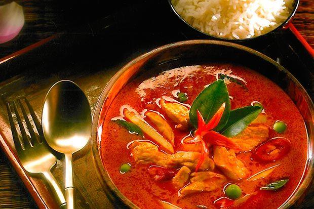 Curry rojo Tailandés con pollo