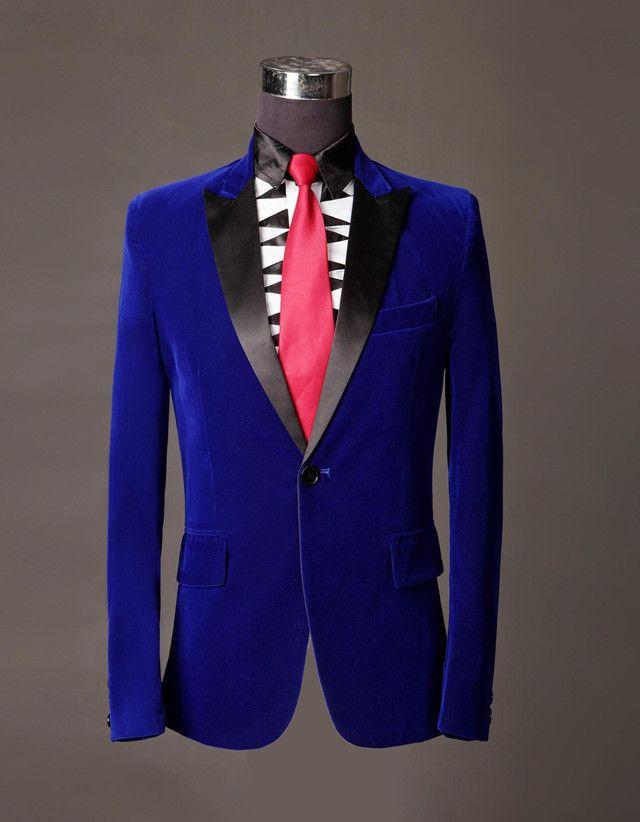 Royal Blue Tuxedo Jacket images