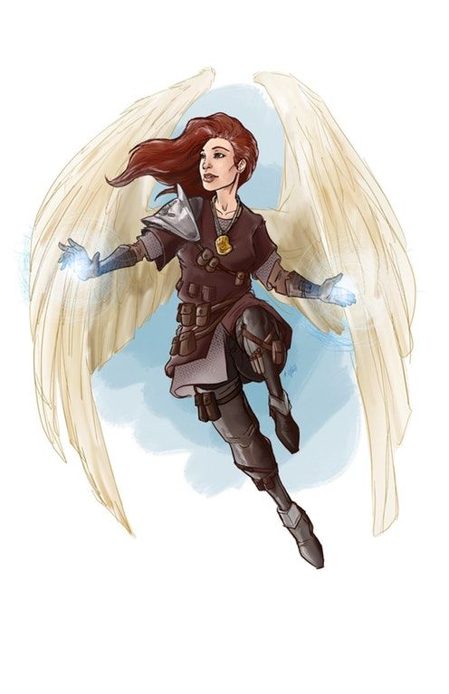 OC] Aasimar Cleric commission : characterdrawing   D&D