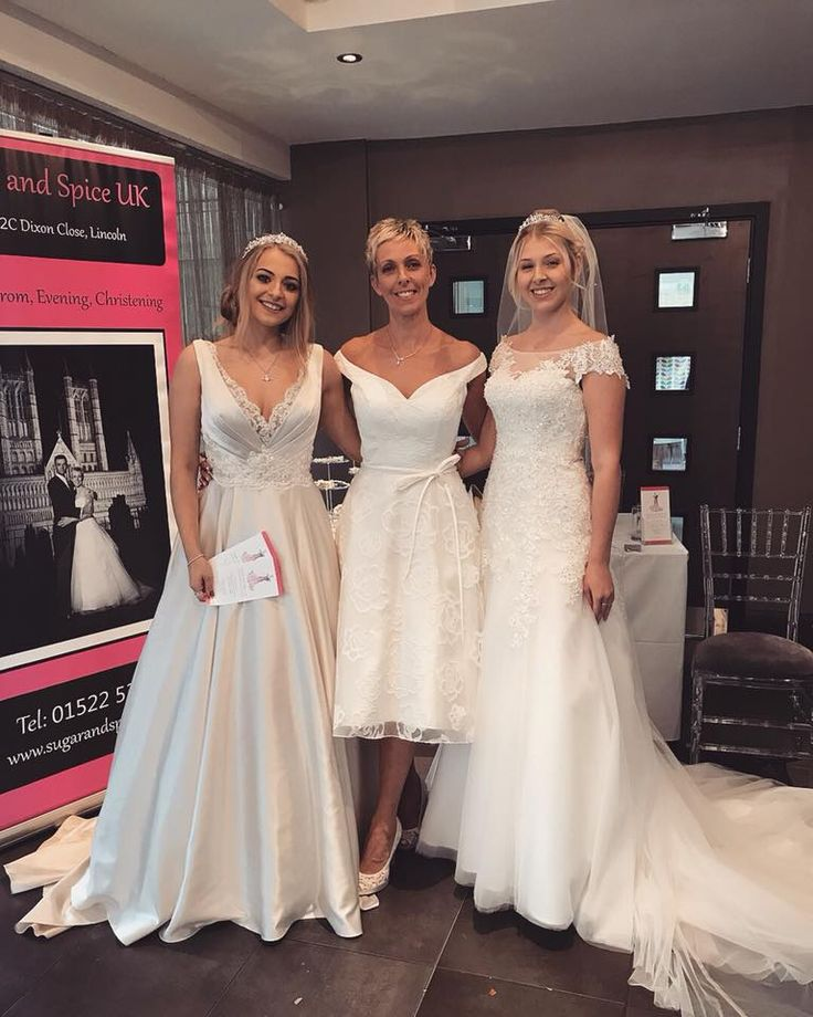 Our 3 lovely models at the Bailgate wedding fayre Oct 2017