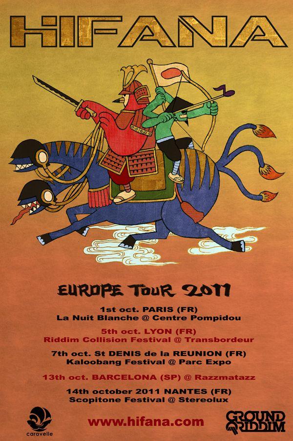 Hifana Europe Tour 2011 poster