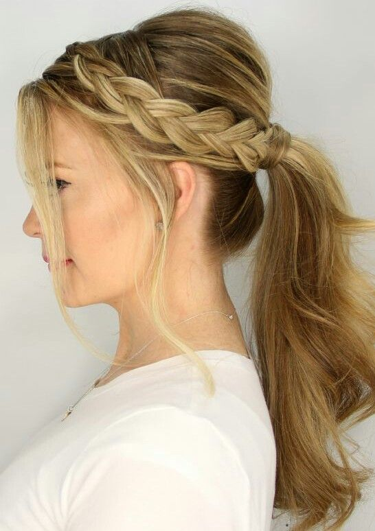 Best 25+ Braid ponytail ideas on Pinterest Braided - Cute Easy Hairstyles For School