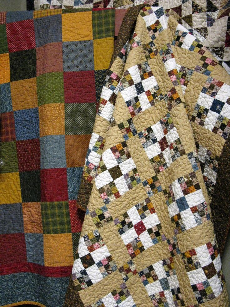 Simple patterns, but such beautiful quilts!