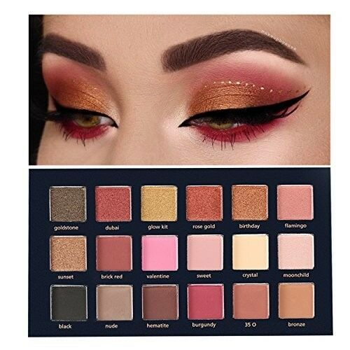 Heres B2uty Holiday Eyeshadow Palette 12 Color Palette Make Up Palette Pigmented Eye Shadow Matte Eyeshadow Shimmer Eyeshadow Beauty Essentials