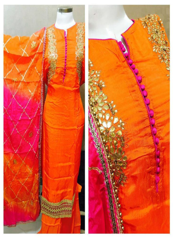 Silk Gotta Patti Designer Suit
